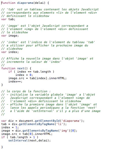 Un Tableau de Bord numérique – v2 !-Module Diaporama