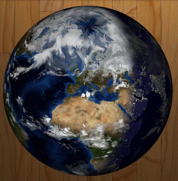 Un Tableau de Bord numérique – v2 !-Module Xplanet_earth
