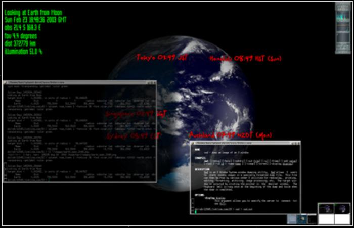 Un Tableau de Bord numérique – v2 !-Modules Xplanet : mise en place de Xplanet