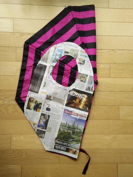 Un sac de courses fabriqué avec un parapluie-La fabrication d'un patron pour votre sac parapluie