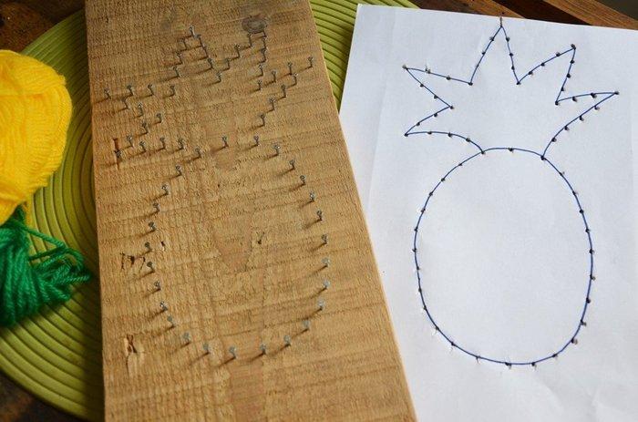 {DiY} Panneau à clefs Ananas-Cloutage de l'ananas