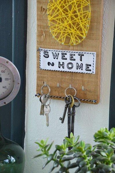 {DiY} Panneau à clefs Ananas-Installation du panneau à clés