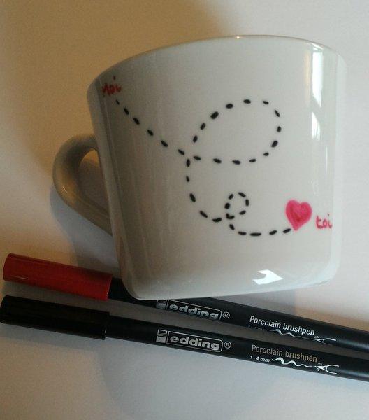 customiser un MUG pour la saint valentin-Toi et Moi