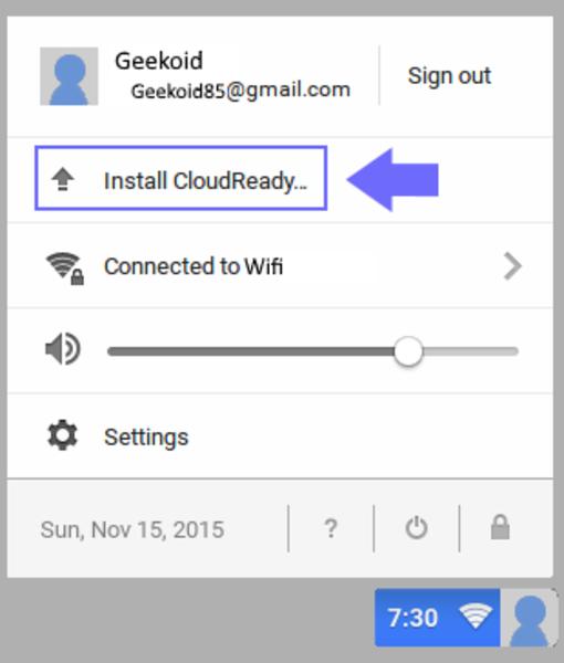Redonnez vie à vos anciens ordinateurs avec Chrome OS-Installation final de Chrome OS – CloudReady