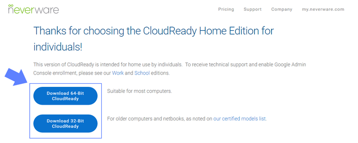 Redonnez vie à vos anciens ordinateurs avec Chrome OS-Télécharger Chrome OS – CloudReady