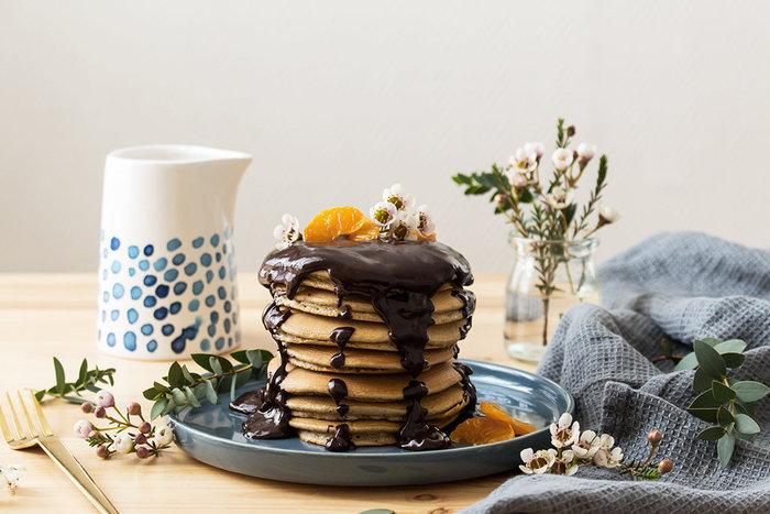 Les Pancakes Châtaigne Clémentine-Le titre de votre étape ici