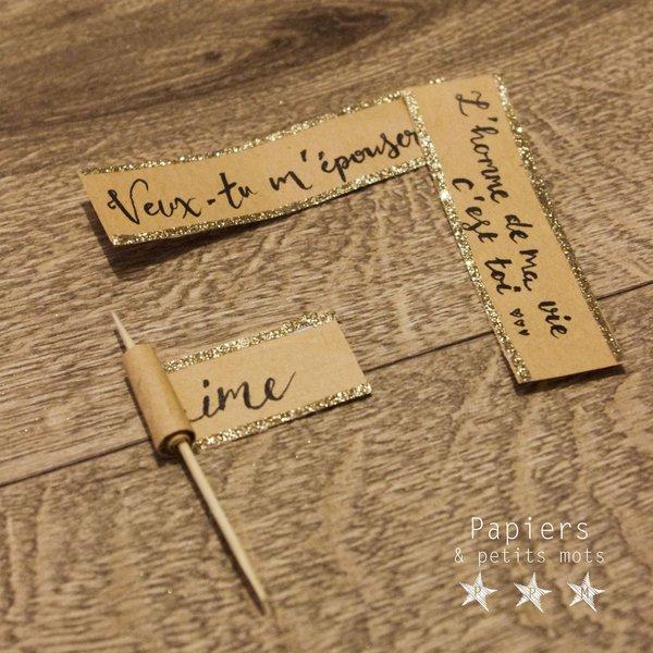 Glaçons d'amour surprise-Préparer les petits messages