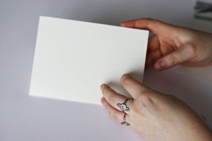 Une carte de Saint-Valentin brodée-Préparez votre carte