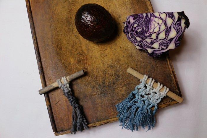 Légumes, teintures végétales et macramés-Le titre de votre étape ici
