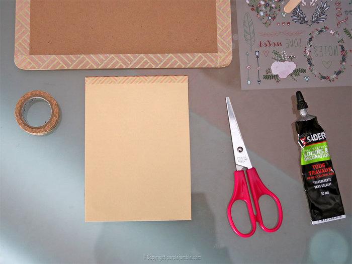 Fabriquer un carnet à mots doux-Customiser le carnet