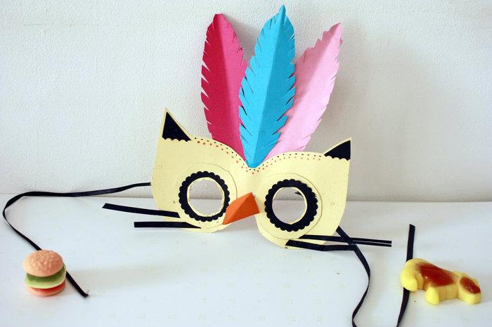 Les jolis masques en papier-Assemblez