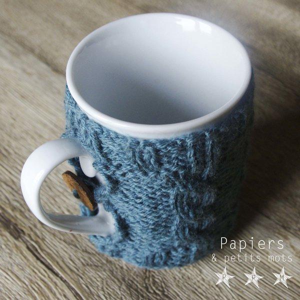 Tricot de mug à torsades-Réaliser une boutonnière
