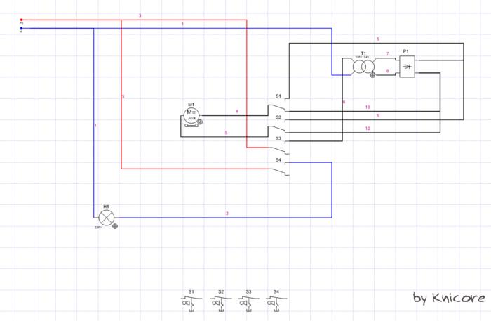 Poulailler: porte et lumière automatique-Schéma électrique