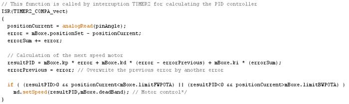 Maxi Servo-Moteur I2C-Asservissement et Correcteur PID