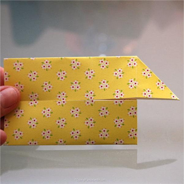 Petits lapins origami-Pliage 2ème partie