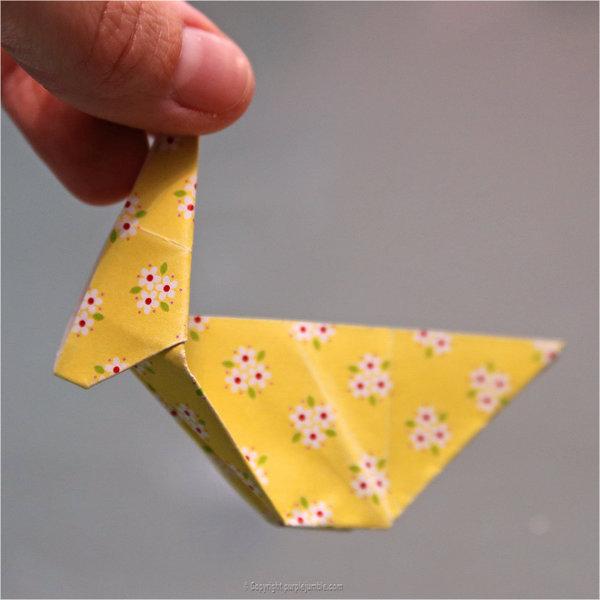 Petits lapins origami-Pliage 3ème partie