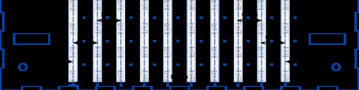 Table tactile : retrogaming et lumière d'ambiance-Placer et coller les segments