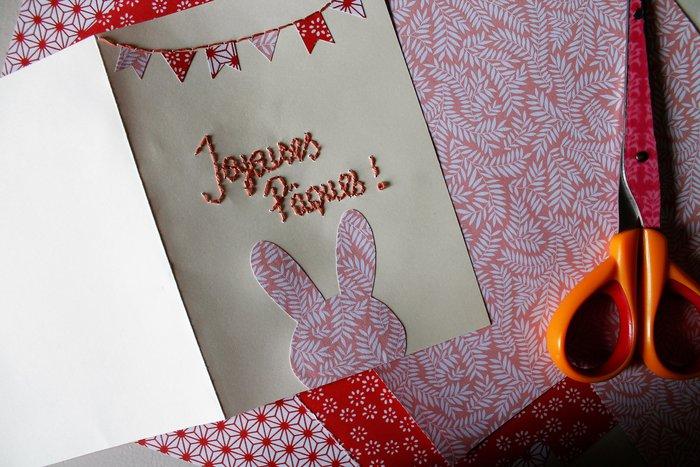 DIY Carte de Pâques-Le lapin