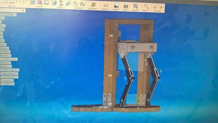 Exosquelette pour Pantin-1 à 5 Étape faite. 6 à 9: les branchements + les éléments