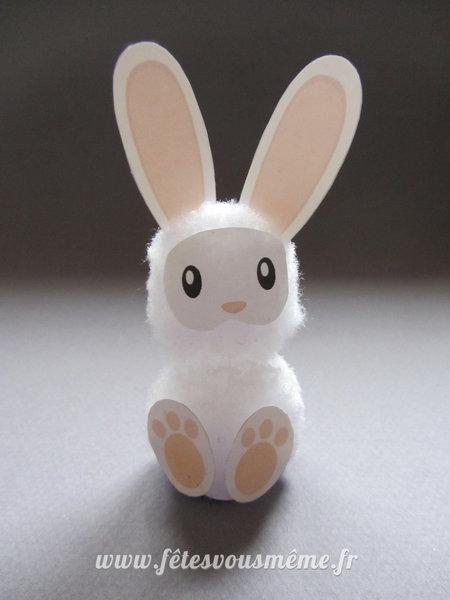 Petit Lapin de Pâques-Réaliser votre Petit Lapin de Pâques - assembler et coller