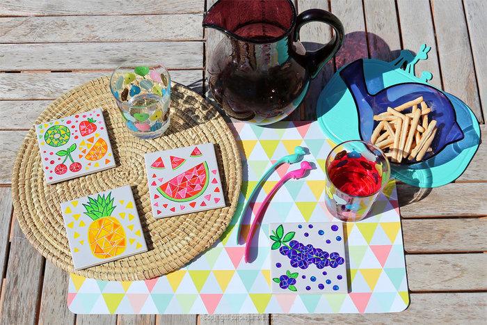 Carreaux fruités pour déco colorée-Décorer et s'amuser !