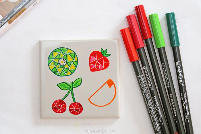 Carreaux fruités pour déco colorée-Une composition tutti frutti
