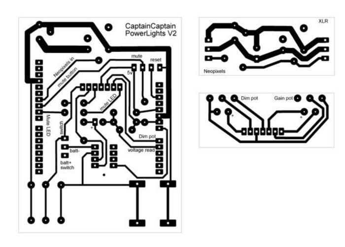 Lumières de scène réactives au son pour batterie ou guitare-Fabrication des PCB