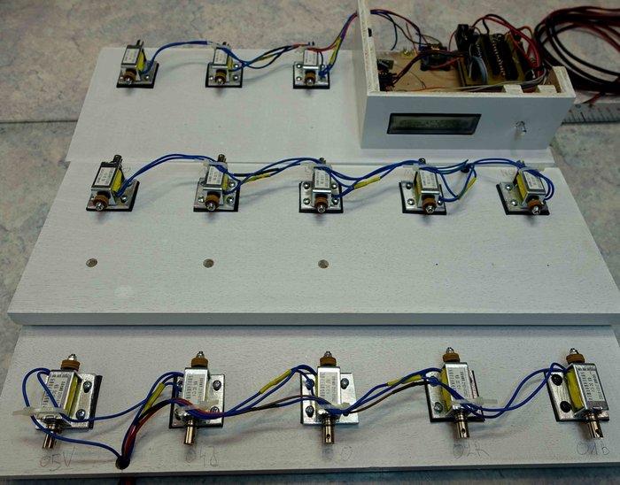 Carillon 13 cloches avec horloge RTC et DCF.-Montage des électroaimants