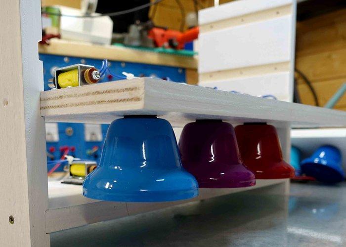 Carillon 13 cloches avec horloge RTC et DCF.-Montage des cloches
