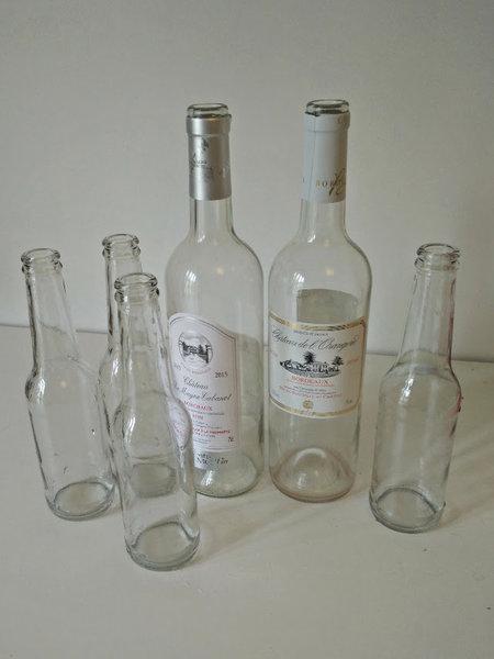 Lanternes en verre recyclé-Nettoyer le verre