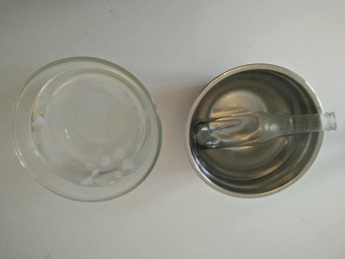 Lanternes en verre recyclé-Découper le verre