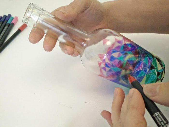 Lanternes en verre recyclé-Décorer le verre