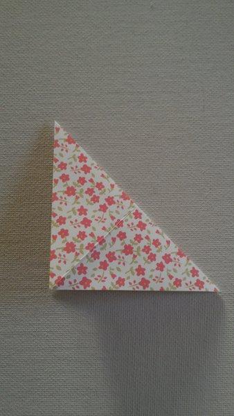 Étui à baguettes en origami-Marquer les plis diagonaux