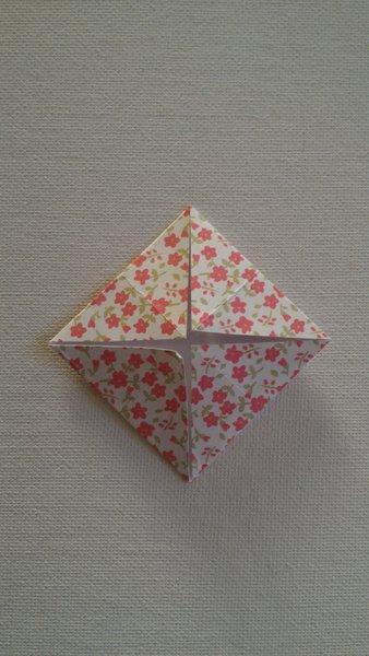 Étui à baguettes en origami-Marquer des sous-plis