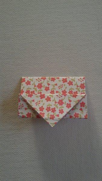 Étui à baguettes en origami-Former l'étui