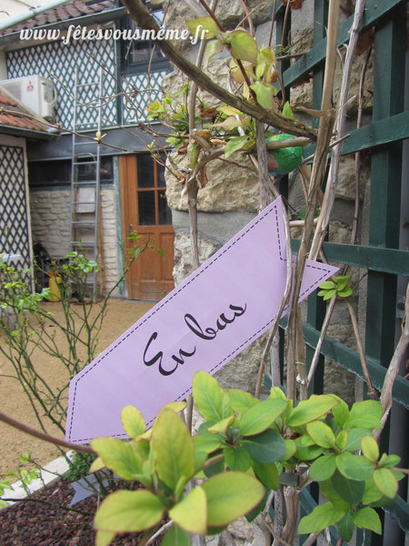 Parcours Fléché façon Alice au Pays des Merveilles-Réaliser le parcours fléché