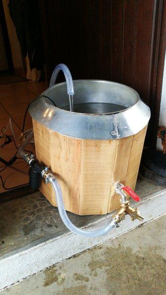 Brassage de bière par Arduino-Coffrage en bois