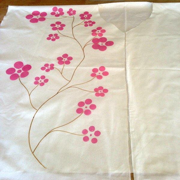 Un kimono sans couture-Décorer le tissu