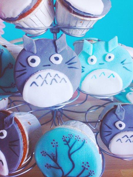 Décoration de Cupcake : Totoro-Le titre de votre étape ici