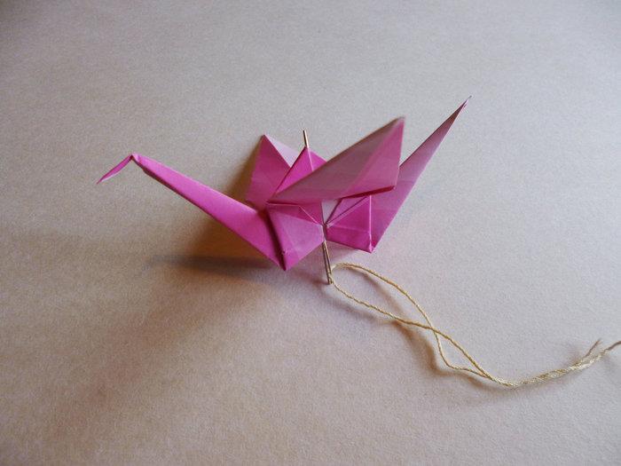 Autour de la grue en origami-Une guirlande pour fêter le printemps