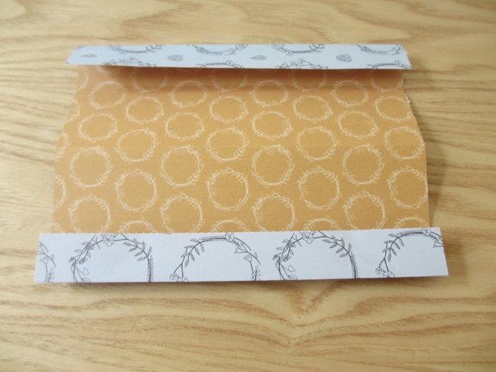 Un panier lapin en origami pour Pâques-Pliage des premières lignes horizontales