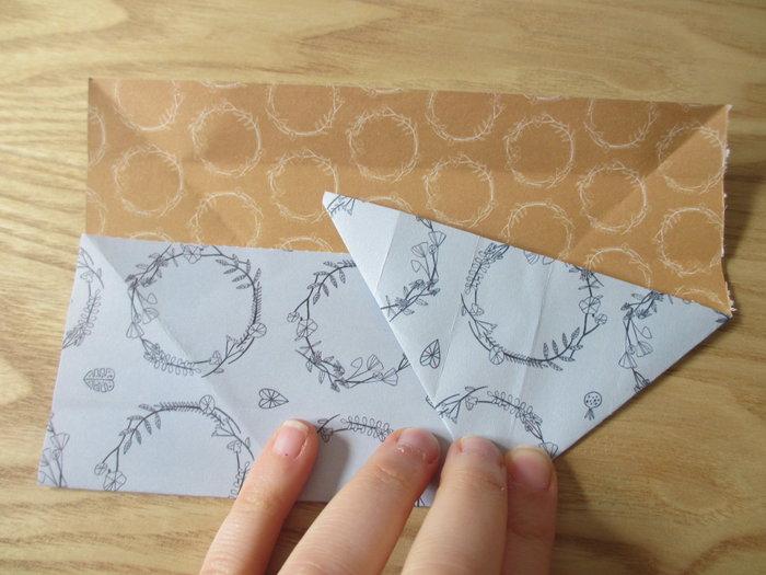 Un panier lapin en origami pour Pâques-Réalisation du corps du lapin