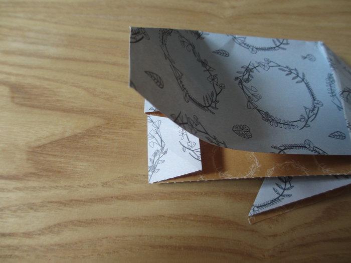 Un panier lapin en origami pour Pâques-Réalisation de l'arrière du lapin