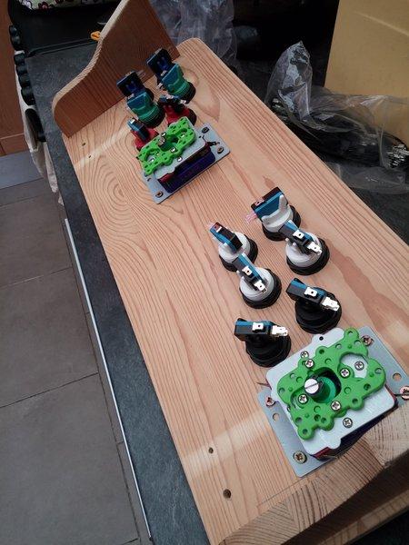 Manette double d'arcades-Monter le kit d'arcades sur l'étagère