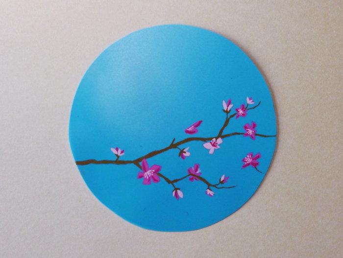 Un Uchiwa-La peinture