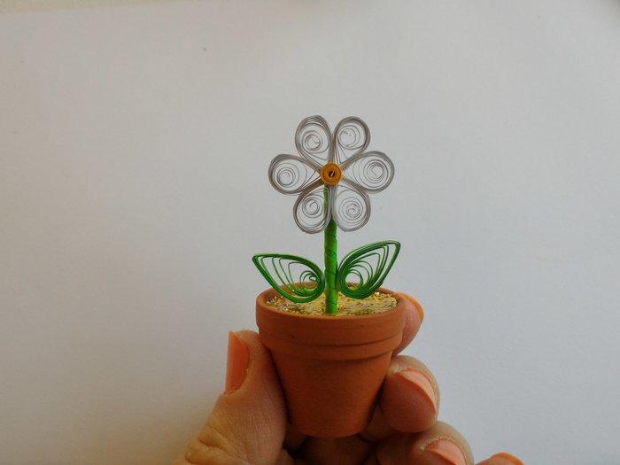 Fleurs en papier - Quilling-Fabriquer une pâquerette / marguerite - étape 4