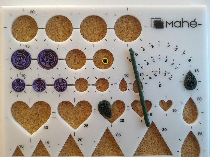 Fleurs en papier - Quilling-Fabriquer une violette - étape 1