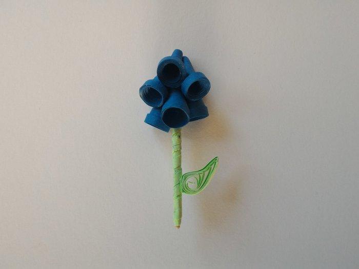 Fleurs en papier - Quilling-Fabriquer une fleur clochette - étape 3
