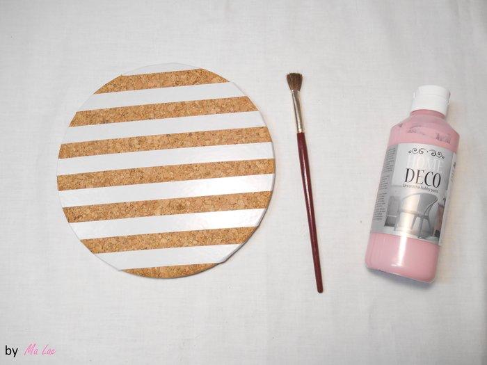 DÉCO // DESSOUS DE PLAT TRANSFORMÉS EN CADRE DÉCO-Peinture