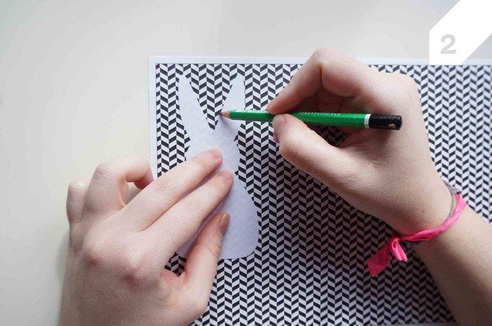Cartes lapinou-Le papier à motif